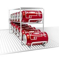 Soda Can Beverage Dispenser Rack - Holds 12 Standard Size 12oz Soda Cans