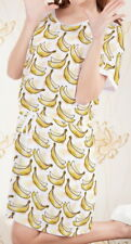 Banana Women Short Sleeve Waist String Loose Dress b124 acc00501