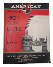 American Tool Works Co High Duty Lathes Catalog