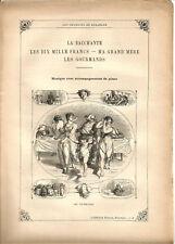 """Partition """"Les Chansons de Béranger"""" N°10 Lire détails sur la photo.8 pages.RARE"""