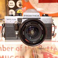 Vintage Praktica MTL 5B 35mm SLR Film Camera W/  28mm F:/2.8 Lens Lomo