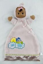 FISHER PRICE Pink Flutterbye Doll Brown Hair Eyes Lovey Security Blanket 2004