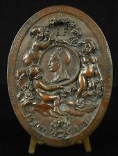 Médaillon francs maçon hommage à la Révolution 1792 Paix travail et solidarité