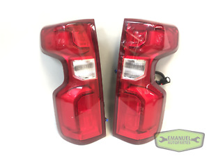 Chevrolet Silverado 2019 2020 PAIR LH and RH LED Tail Lights with Harness OEM
