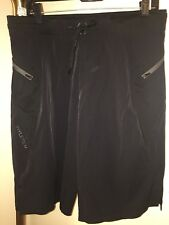 MEN'S HYLETE VERGE II BLACK WORKOUT FLEX-WOVEN ZIP POCKET SHORTS SZ LARGE LONG
