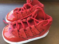 Red retro Jordan high top baby sneakers. Size 5C. Cq9600-600. 09/20/19.