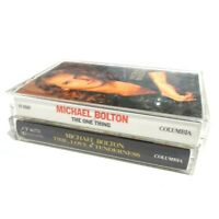 Lot of 2 Michael Bolton Cassette Tapes The one thing Time Love Tenderness