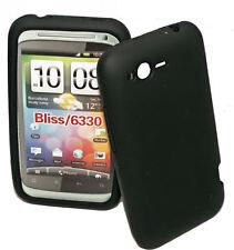Silikon TPU Cover Handy Case in Schwarz  + Displayschutzfolie für HTC Rhyme