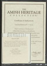 30016 Jacob and Toby Original CoA & Papers | Amish Heritage Collection