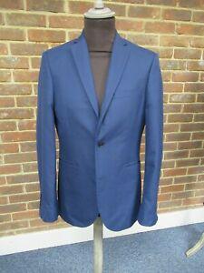 Next Tailoring Men's Single Breasted Slim Fit Dark Blue Jacket Size: 38R  1842