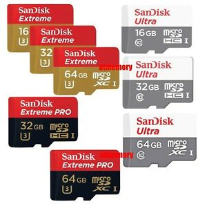 Sandisk 16/32/64/128/200GB Ultra Extreme Pro Micro SD SDXC C10 lot Memory Card