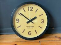 """Large 13"""" Vintage Industrial Wall Clock 1970's Original Factory Train Station"""