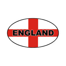 2 Oval England flag Stickers Static Cling vinyl Labels decals 100 x 55mm
