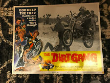 Dirt Gang 1972 American International lobby card Motorcycle flick Paul Carr