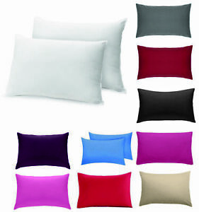 Percale Soft Pillowcases Queen Standard For Bed Home Bedroom Pillow Cases
