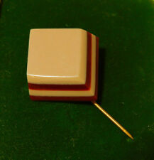 Vintage Art Deco Celluloid Early Plastic Brown Tan Stick Pin Brooch  10i 73