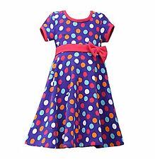 Girls Bonnie Jean purple dot knit dress sizes 4,5,6,6x Birthday Holiday