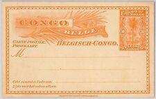 Belgian Congo  Congo Belge -   POSTAL STATIONERY CARD - Palm trees