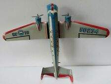 Original tin Marx Stratoliner 700 Skycruiser airplane with twin propellers