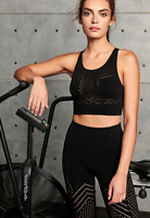 NEW Free People Movement Seamless Ecology Crop Bra Black XS/S-M/L Made In Italy