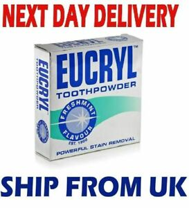 EUCRYL Fresh Mint Flavour Powerful Whitening Stain Removal Tooth Powder - 50 GM