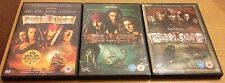 PIRATES OF THE CARIBBEAN 1, 2 & 3 DVDs (Region 2) Johnny Depp