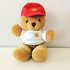 Shell Promotional Brown Teddy Bear Plush Toy Soft Toy Red 22cm Seated