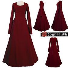Mittelalter Karneval Larp Gewand Kleid Kostüm Robe Eleonore Bordeaux XS S M L XL