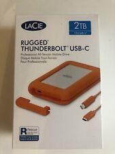 New LaCie Rugged Thunderbolt Usb-C 2tb Hard Drive