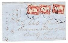 Sc#25(x3)-LARGE PIECE-COLUMBUS(Franklin County)OHIO-FEB/23/1859-to MANSFIELD
