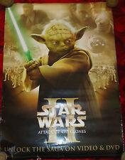 """Star WARS # 110 maxi poster, grand, l'attaque des clones, yoda, 28 """"x20"""""""