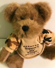 Boyds Teddy Bear Plush Us Hero Retired Tag Euc ~Support Our Troops Military Camo