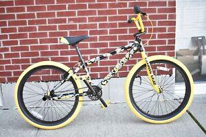 "2021 SE Bikes So Cal Flyer 24"" Yellow Camo BMX Bike"
