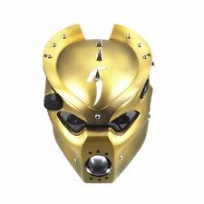 Gold LED 28-43mm Adjustable Pig Head Light Headlight Cruiser Chopper Cafe Racer