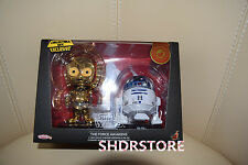 HOT TOYS STAR WARS GOLD CHROME C-3PO R2D2 cosbaby SHANGHAI DISNEYLAND EXCLUSIVE