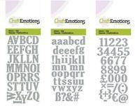 Upper Case / Lower Case Alphabet Letters Shaped Stencil Die Cutting - CHOOSE