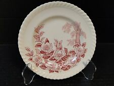 """Johnson Brothers Windsor Ware Apple Blossom Pink Bread Plate 6 1/4"""" EXCELLENT!"""