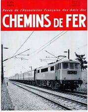 Chemins de fer n°271 Juillet-Août 1968, revue AFAC