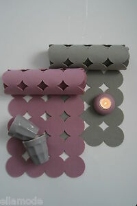 .innerum of Sweden Felt Circles Table Runners Dark Pink Light Pink Petrol Blue