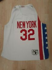 MENS AUTHENTIC THROWBACK BASKETBALL JERSEY SZ 2XL NEW YORK NETS DR. J #32 ERVING