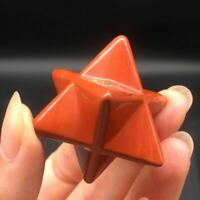 Mini Natural Red Jasper Quartz Carved Sacred Merkaba Star Meditation Healing 1Pc