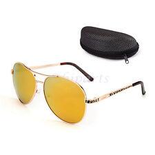Retro Aviator Polarized Sunglasses Mirrored for Men Women w/ Case Driving UV400