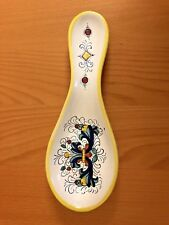 Italian Majolica Style Umbria Ricco SPOON REST Italy ceramic