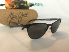 Maui Jim Popoki Satin Black Womens Sunglasses - 729-02ms