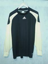 Adidas Men's Large Black/Yellow Mock Neck LS Athletic Shirt w/Padded sleeves.