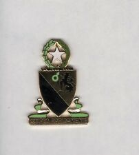 US Army 124th Cavalry Regiment crest DUI c/b clutchback badge G-23