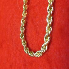 "WHOLESALE LOT OF 5pcs OF  8"" 14KT GOLD EP 3MM ROPE FRENCH STYLE CHAIN BRACELETS"