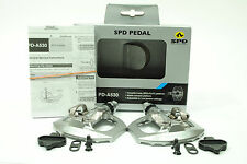 Shimano PD-A530 Bicycle SPD Pair Pedals Silver + Cleats Mountain Bike