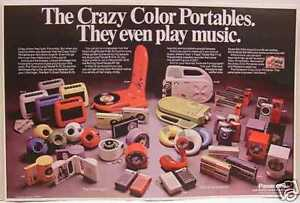 PANASONIC SPACE AGE PRODUCT LINE POSTER COPY TOOT A LOOP PANAPET PANA