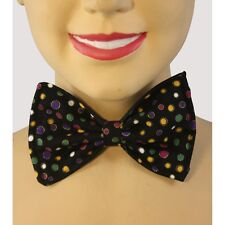 Mardi Gras Colorful Dot Costume  Bow Tie Clown Polka Dot Bow Tie CLOSEOUT